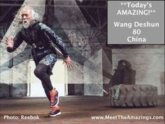 "Reebok just hired Wang Deshun, 80, as a brand ambassador, part of their ""Be More Human"" campaign."