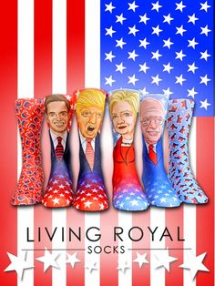 Show your support with socks! Trump, Clinton, Sanders, or Rubio which pair will you wear? Use 'GET10OFF' for 10% off all orders PLUS $3 flat-rate shipping on all US orders!
