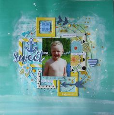 Saras pysselblogg - Sara Kronqvist: Sweet scrapbook layout with lots of frames