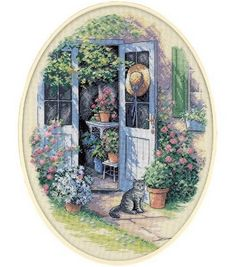 Dimensions Counted Cross Stitch Kit Garden Door