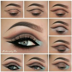 """Step by step picture of todays look. Using the @maya_mia_y eyepalette by @anastasiabeverlyhills. Step 1. Used a black eyepencil to create my crease. Step…"""