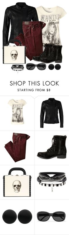 """Untitled #1227"" by gallant81 ❤ liked on Polyvore featuring Calvin Klein Jeans, BRAX, Steve Madden, Bertoni, Thomas Sabo and Yves Saint Laurent"
