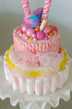 Simply Suzanne's AT HOME: a pink candy cake!
