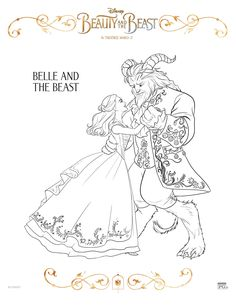 Beauty and the Beast coloring sheets to celebrate Disney's newest film! Belle, the Beast, Gaston, Mrs. Potts, and more! Free to print from home!