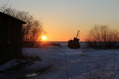 Winter in Kolka, Kurzeme, Latvia