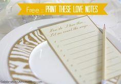 free printable love notes #valentinesday #valentinesday
