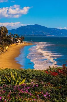 Butterfly Beach Montecito (Santa Barbara) California. ... Relax with this nature photo. #Relax more with this #free #music with #BinauralBeats that can #heal you. #landscaping #LandscapingIdeas #landscapeDesign