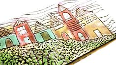 michele made me: Foam Tray Landscape---This one was irresistible, a village on a grocery store foam tray. Colorful trash! I'm also a sucker for little houses. Follow the link for a how to - LC