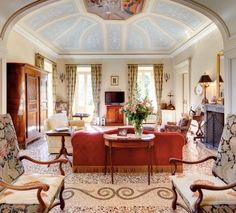 Villa Passalacqua - Lake Como = the drawing room