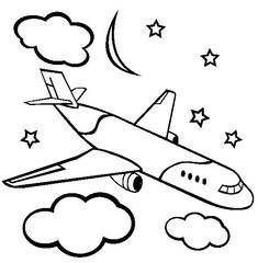 nice airplane coloring pages for kids special picture
