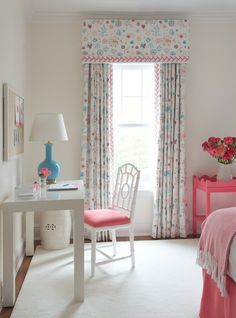 darling white, pink and turquoise girl's bedroom // Kerry Hanson Design