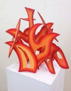 Resultado de imagem para abstract cardboard sculptures