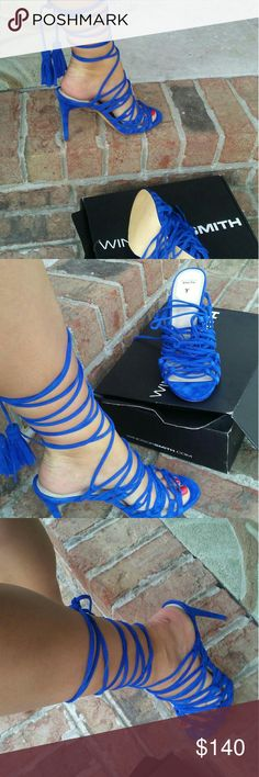 Windsor Smith heels Blue lace up heels.Brand new with box. Windsor Smith Shoes Heels