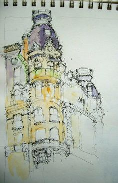 Drawing of the Ansonia Building