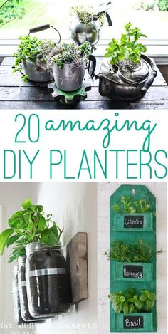 twenty cool DIY planters to make