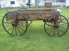 Adams single horse drawn wagon.