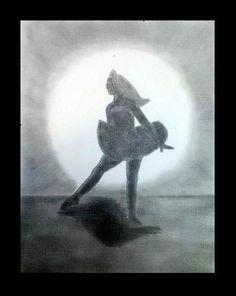 Pasos de ballet I - Lápiz carbón - 24x35