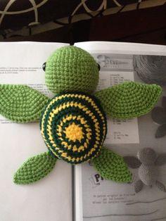 Amigurumi tortuga marina grande