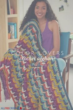 I love the look of this afghan. It's an intermediate crochet pattern but I think I can do it!