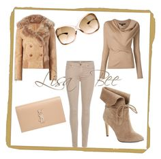 #NudeSeries #FALLing #LisaBee by lisa-boyce on Polyvore featuring polyvore, fashion, style, Liven, 7 For All Mankind, 424 Fifth, Yves Saint Laurent, Tom Ford and clothing