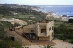 Wooden Fortress-Like Metamorphosis House In Chile | DigsDigs