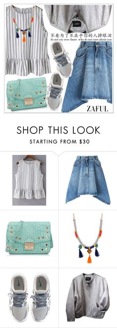 """""""Zaful"""" by teoecar ❤ liked on Polyvore featuring Moschino, NIKE, Isabel Marant and zaful"""