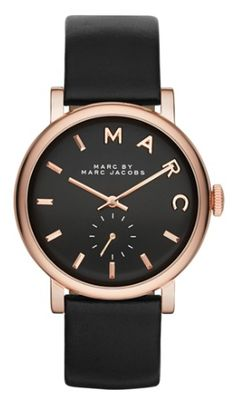 Marc Jacobs leather strap watch  http://rstyle.me/n/msd52pdpe