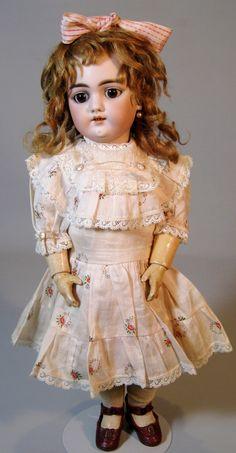 Gorgeous Antique Handwerck 109 German Bisque Head Doll from victoriasdollhouse on Ruby Lane