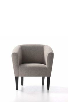 Butaca en blanco Tub Chair, Accent Chairs, Furniture, Home Decor, Powder Room, White People, Home, Upholstered Chairs, Decoration Home