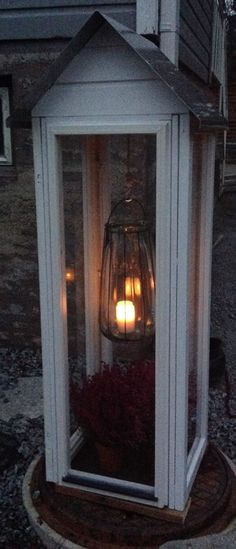 Lantern made of old windows