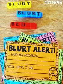 BLURT cubes classroom management trick to get a chatty class to be quiet.. your kids will LOVE this behavior management strategy!