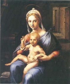 Madonna col Bambino di Palazzo Barberini. Anni romani di Giulio Romano. 1520. Circa