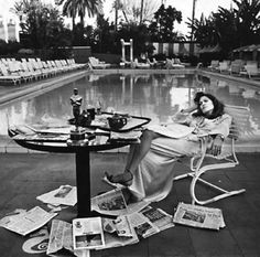 TERRY O\'NEILL - FAYE DUNAWAY, LOS ANGELES, 1976 | From a unique collection of photography at http://www.1stdibs.com/art/photography/