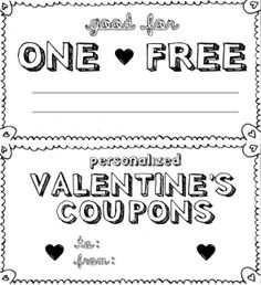 valentine coupon card template