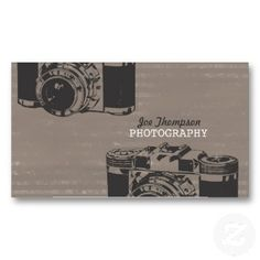 Vintage Camera Photography Business Cards (DIY Template) #photography