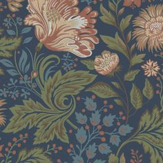 Wallpaper For Sale, Navy Wallpaper, Wallpaper Samples, Blue Wallpapers, Flower Wallpaper, Blue Backgrounds, Phone Backgrounds, Dark Blue Background, Background Vintage