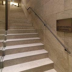 Modern stone staircase