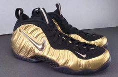new product b8dc7 4193e The Nike Air Foamposite Pro Metallic Gold Is Not Afraid To Shine Sporty  Outfits, Nike