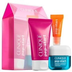 Curious about the new Clinique Pep-Start Skincare Collection? You can try three deluxe size samples of the new line with this $15 Sephora Set! The Clinique