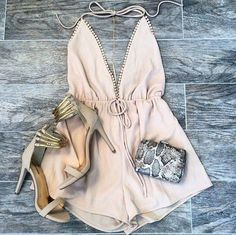 Finders keepers all time high cut out romper in golden fleece from revolveclothing.com #Jumpsuit #buyable