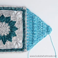 Look At What I Made: Charlotte - Part 2 - this shows you how to make the 4 triangles that frame the central square. Free crochet pattern.