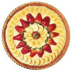 Citronpaj med choklad och glaserade frukter är en fröjd för ögat såväl som för smaklökarna.