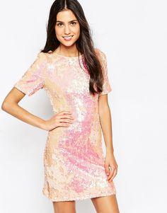 Image 1 ofGlamorous Shift Dress in Heavy Sequins