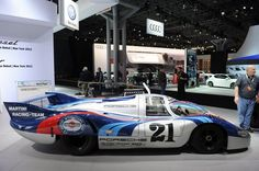 1970 Porsche 917/LH the race car that saw victory at the 24 Hours of Le Mans in both 1970 and 1971 is now on display at the New York Auto Show.