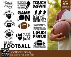 football svg / football mom svg / football dad svg / football svg bundle / svg files / svg for cricut / svg for silhouette / svg bundle
