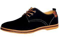 0004128429 DADAWEN Men's Canvas Oxford Casual Shoe Black US Size 11 - Duglu.com Men  Store