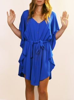 Jack by BB Dakota - Dublin Cobalt Kimono Dress. LOVE!