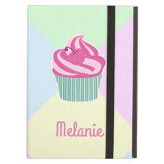 #Cute Pink Cupcake and Pastel Colors iPad Air Case - #cute #pink #sweet #custom