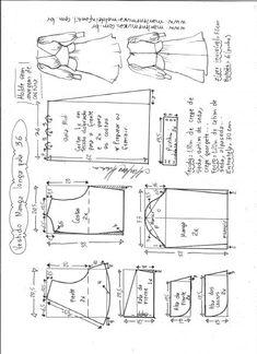 Vestido manga longa midi – Marlene Mukai T Shirt Sewing Pattern, Skirt Patterns Sewing, Pattern Drafting, Doll Patterns, Clothing Patterns, Sewing Basics, Sewing Hacks, Fashion Design Sketches, Fashion Sewing