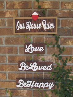 Hey, I found this really awesome Etsy listing at https://www.etsy.com/listing/201378898/handmade-house-rules-home-decor-wall